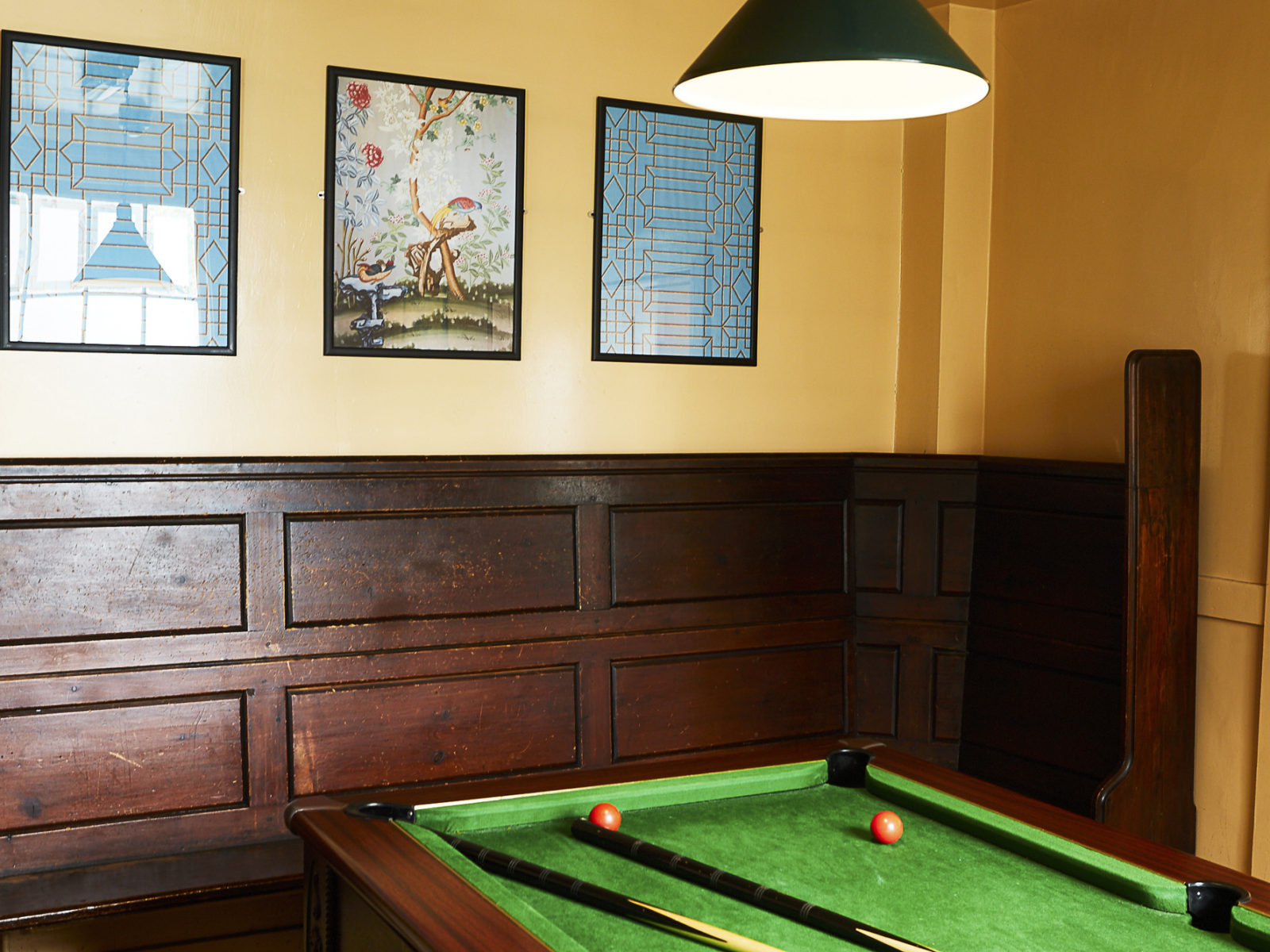 Our pool table | photo by Clare Lewington